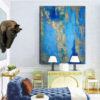 Vintage I Painting in Room for Interior Design