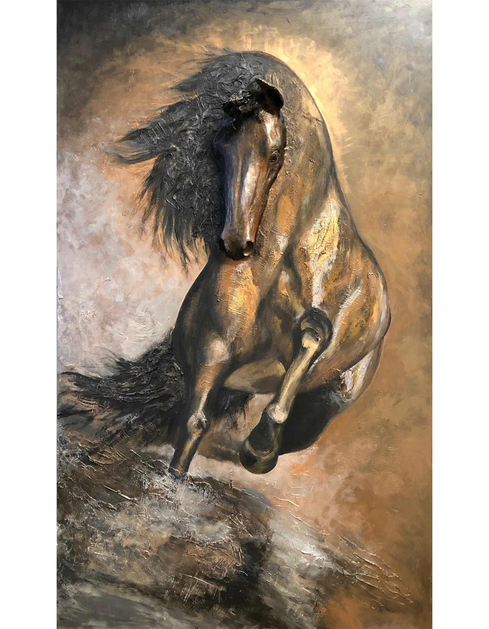 Horse Sculpture Painting