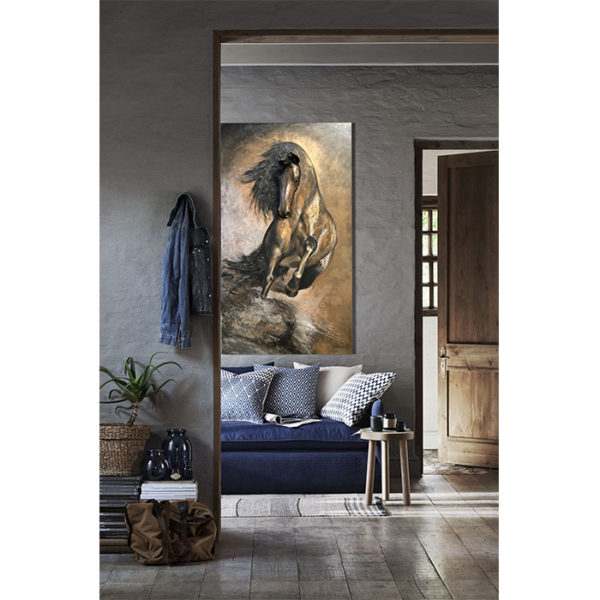 Pegasus Sculpture Painting in Room for Interior Design