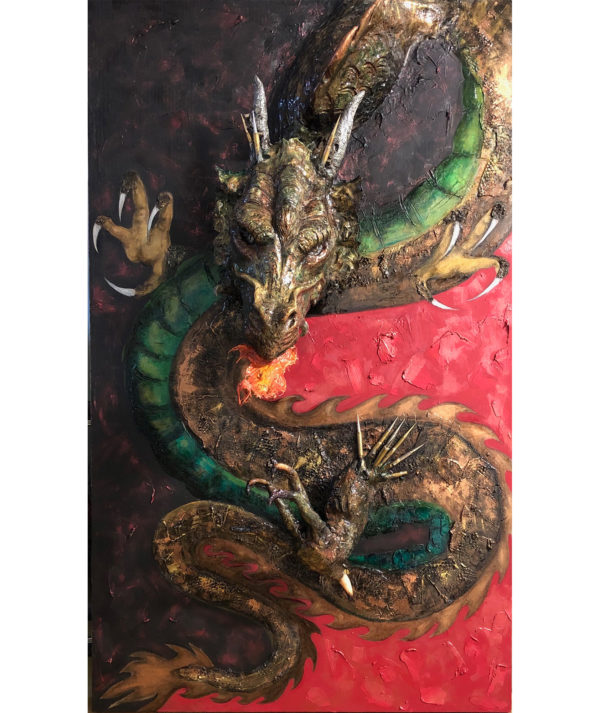 Dragon Sculpture Painting