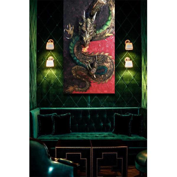 Kiyo Sculpture Painting in Room for Interior Design