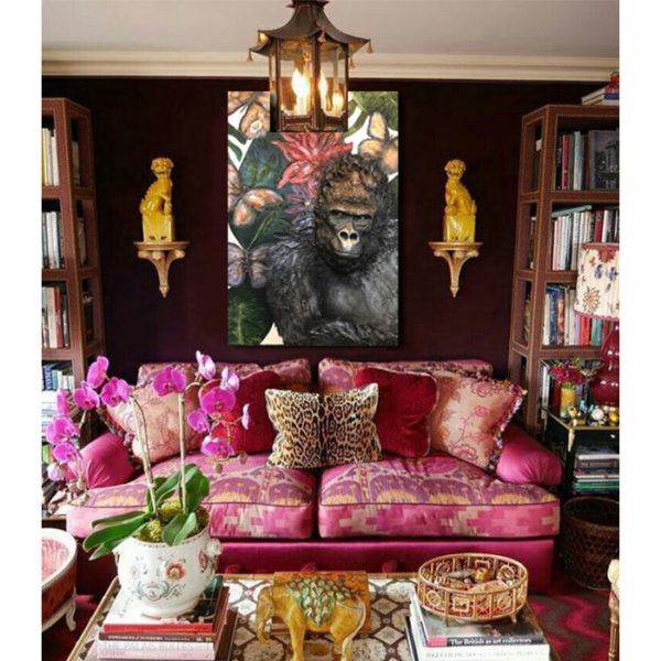 Gorilla Sculpture Painting in Room