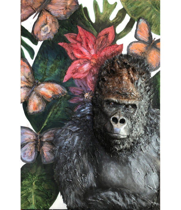 Gorilla Sculpture Painting