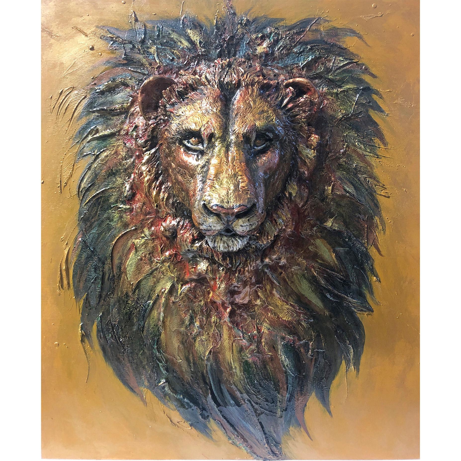Lion Sculpture Painting
