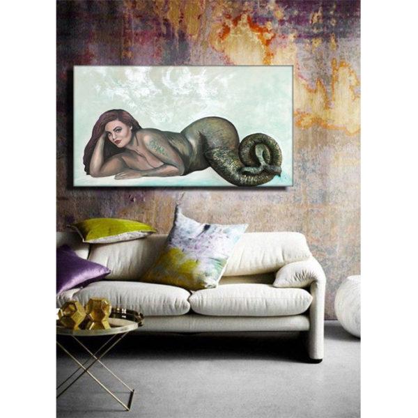 Lisa Marie Mermaid in Room for Interior Design