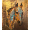 Rustic Equine Sculpture Painting