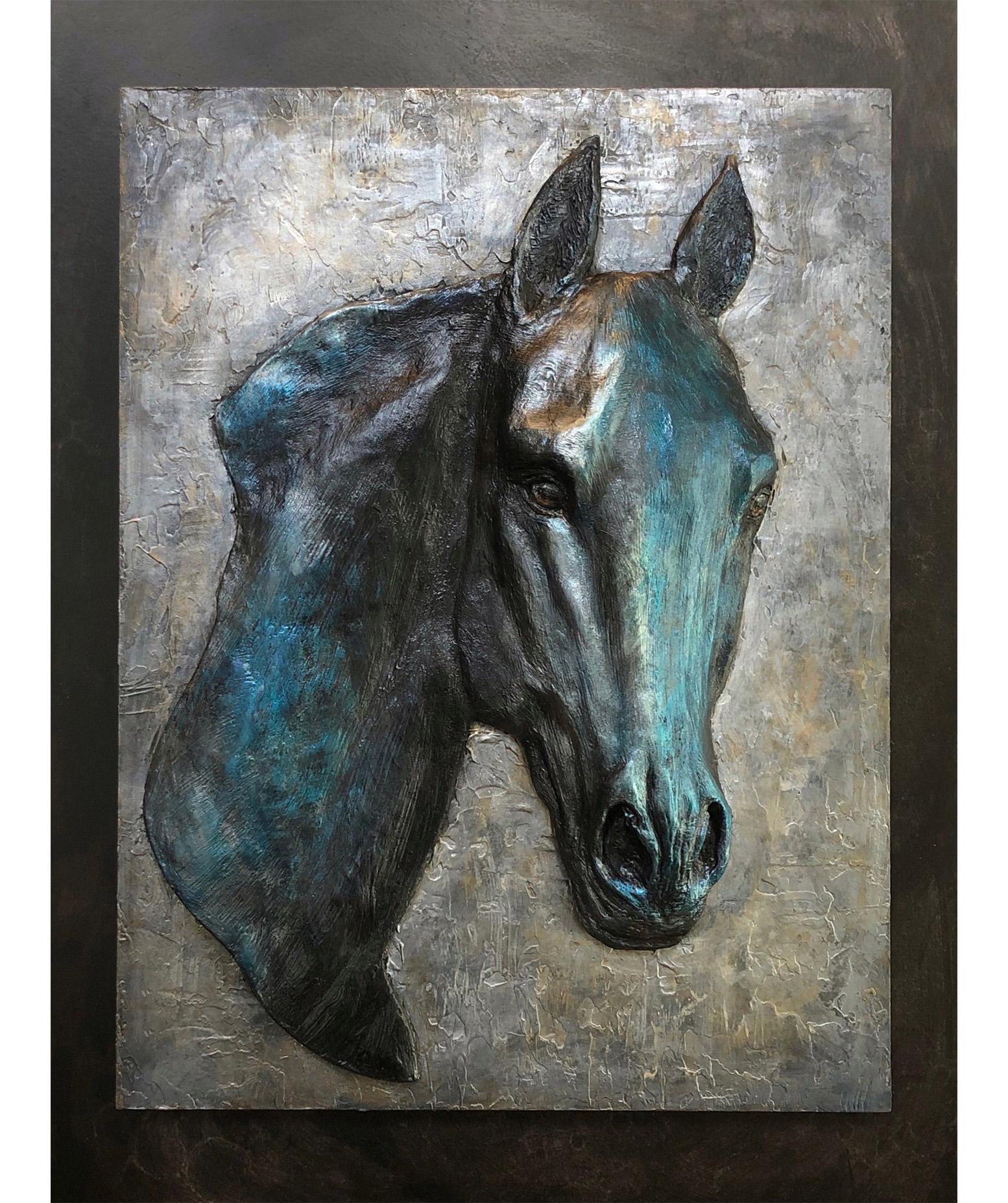 Masculine Equestrian Sculpture Painting