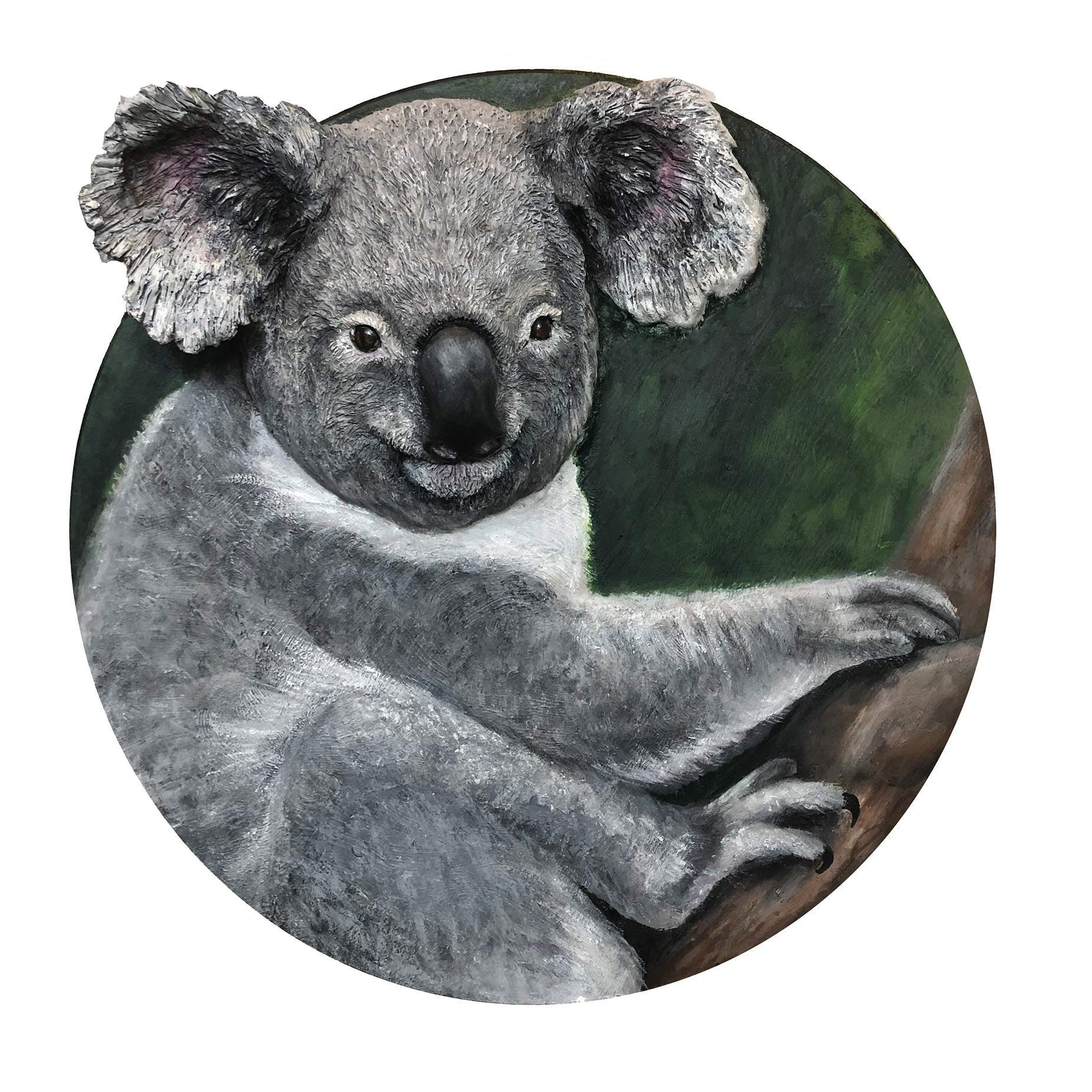 Koala Sculpture painting is a donation for Australia Fires