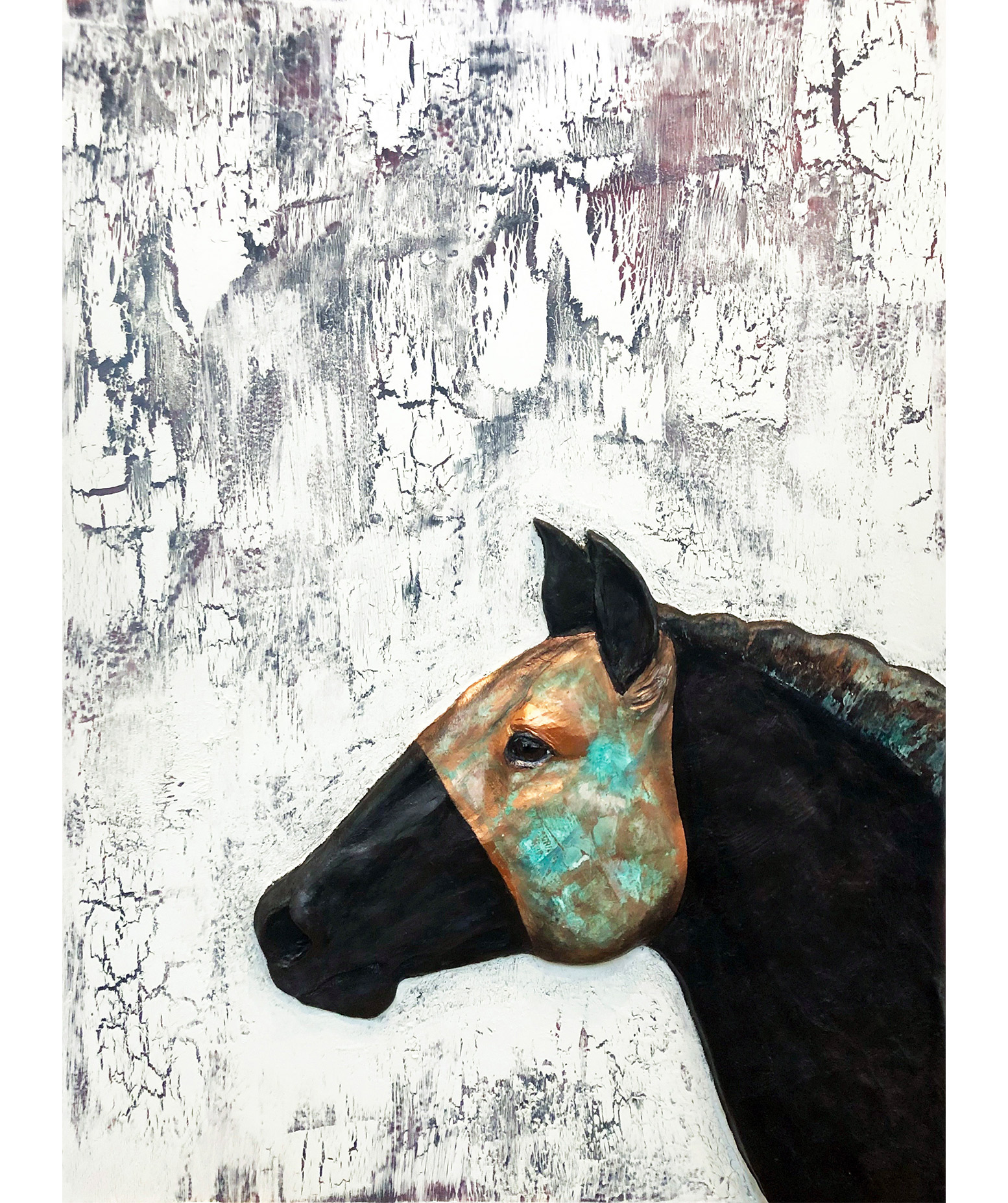 Racing Horse Equine Sculpture Painting