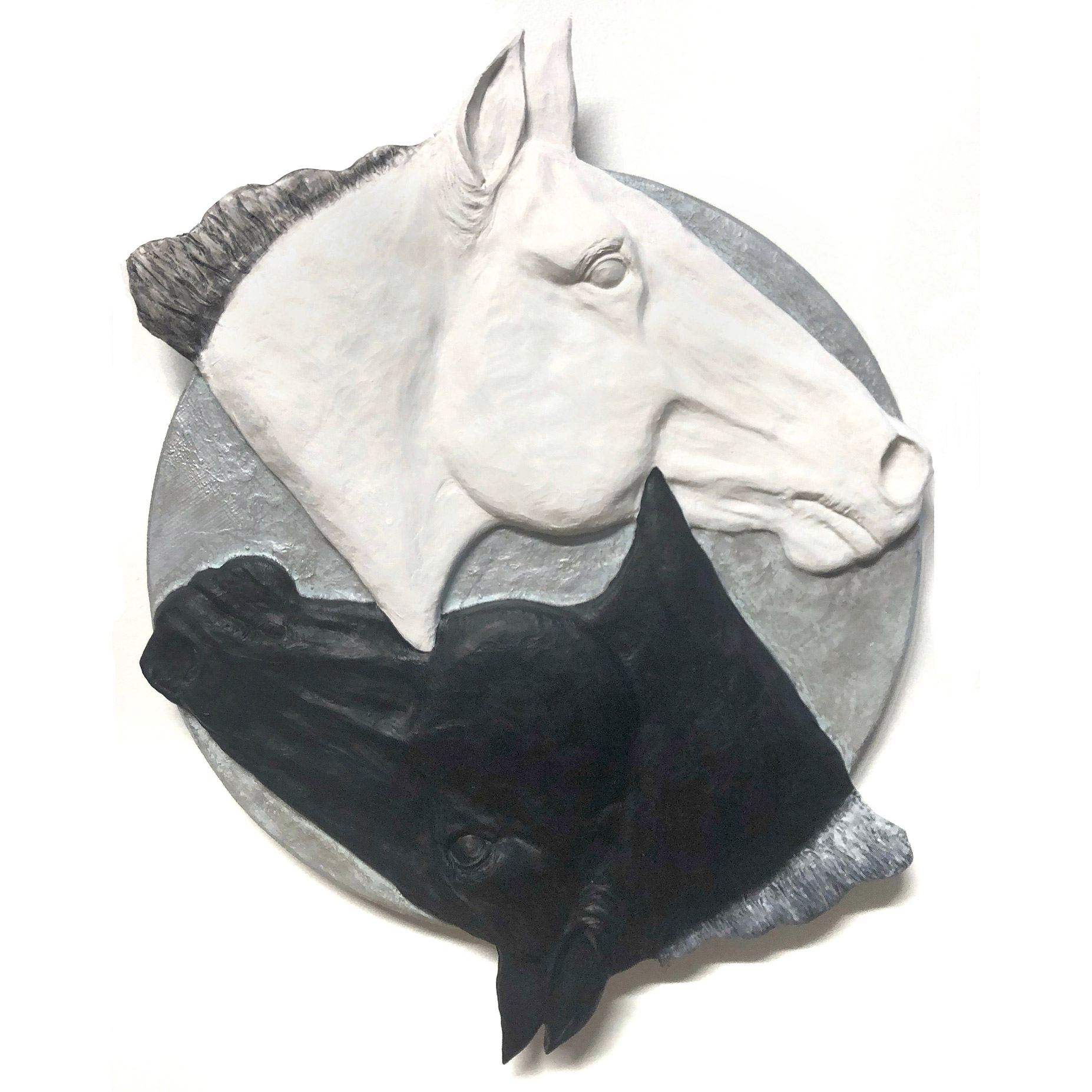 Horse Heads Sculpture