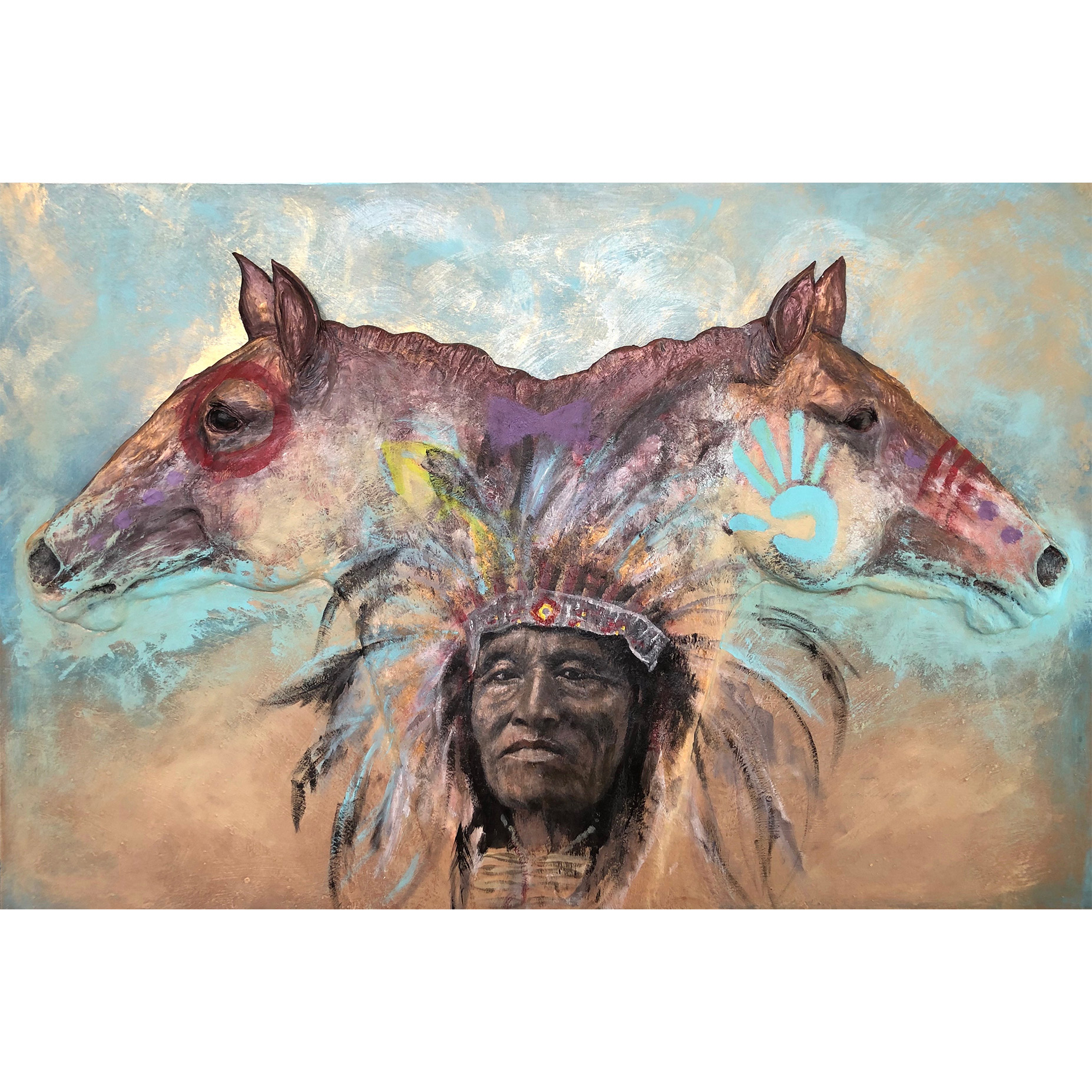Native American Horse Painting