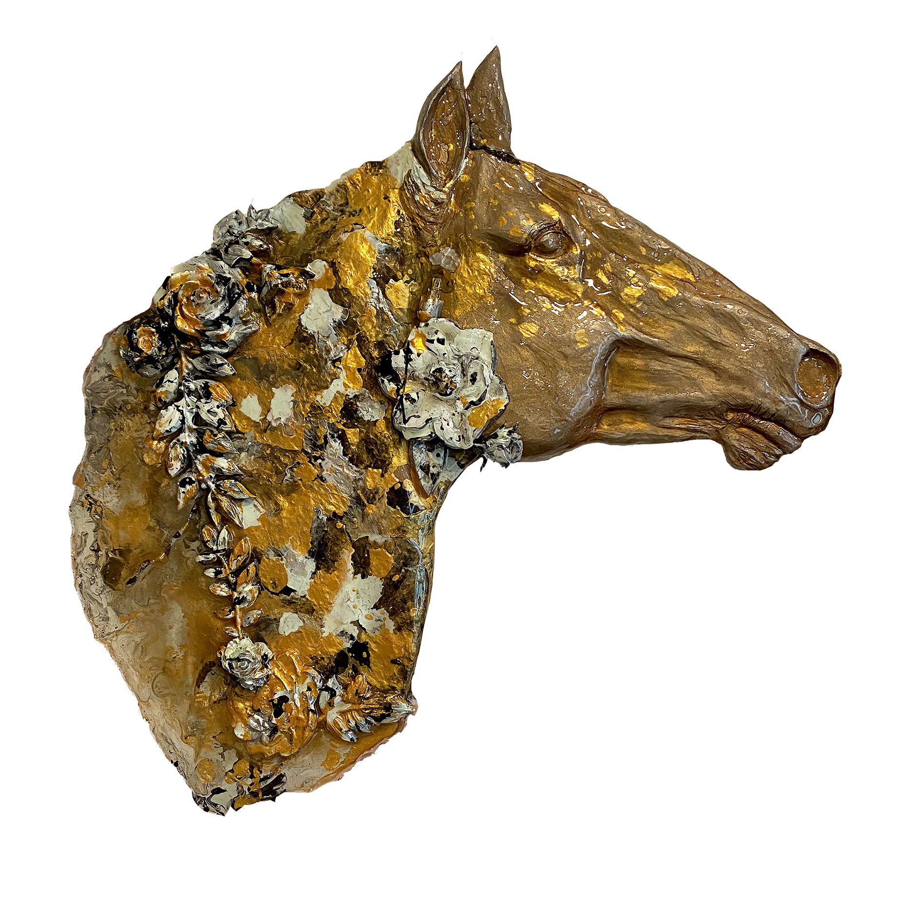 Floral Filly Equine Sculpture